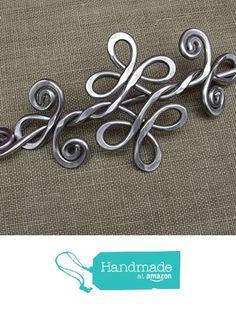 Celtic Knot Double Swirls and Curls Aluminum Shawl Pin from Nicholas and Felice http://smile.amazon.com/dp/B016LVQA82/ref=hnd_sw_r_pi_dp_BuqZwb1346SRB #handmadeatamazon
