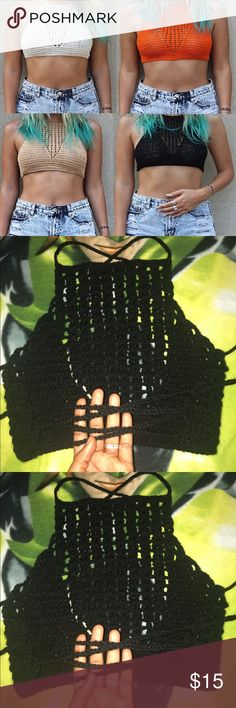 Summer cali handmade top Handmade by me, let me know the colors you want, bundle and save too,any purchase comes with free designers bracelet, newly launched on my site please support my growing business thanks Tops Crop Tops