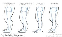 Fursuit Leg Padding Diagram 1
