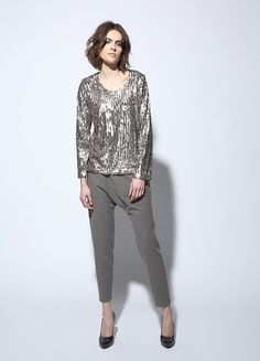 CIRCUS of FASHION presents Fashion / Mode from BERLIN, here:  Sequined Sweater + Slouchy Pants