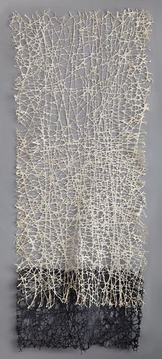 'Vice Versa (1)' by American artist Jennifer Davies. String and handmade paper, 9 ft x 4 ft. via the artist's site
