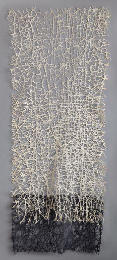 'Vice Versa (1)' by American artist Jennifer Davies. String and handmade paper, 9 ft x 4 ft. via the artist's site