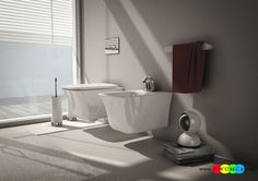 Bathroom:Wall Hung Sanitary Ware Solutions For The Small Space Conscious Bathroom Bath Tubs Makeover Shower Remodeling Plan Wall Mount Toilet Sink Faucets Design Cow Collection Of Sanitaryware Inspired By Neoclassical Era Wall-Hung Sanitary Solutions For The Small Space-Conscious Bathroom
