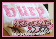 Handmade Burp Cloths {Tutorial} - Reasons To Skip The Housework