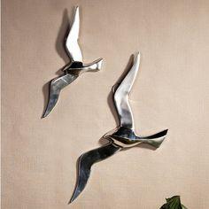 Nástěnná dekorace hliníková Flying bird, 34 cm - 1
