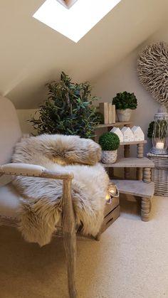 Hygge ..... cosy interiors...sheepskin rug or throw Www.westbarninteriors.co.uk