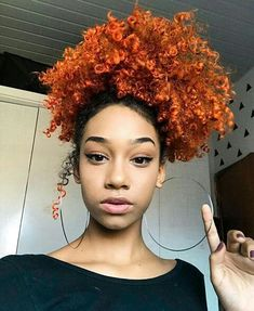 25 Assumed Redheads Orange Hair Color Ideas For You - The most unique and attractive hair color ideas are ready for you to make you more and more specialized. Just select your option from this list. Dyed Natural Hair, Natural Hair Tips, Natural Hair Inspiration, Dyed Hair, Natural Hair Styles, Colored Natural Hair, Purple Natural Hair, Short Ethnic Hairstyles, Afro Hairstyles