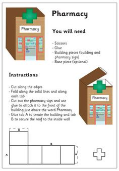 3D Model Building: Pharmacy| Craft Activities For Kids