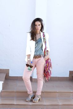 http://www.theguestgirl.com/2016/05/neutral-outfit-spring/ #DDP #chinos #slim #outfit #neutral #style #minimal #sincerlyjules #noholita #theguestgirl #fiji #water #natashaoakley #rockybarnes #debiflue #carolinereceveur #collagevintage #inspo #idea #chic #me #inspiration #blog #fashion #cannes #lace #cami #white #pink #zuecos #gunnels #burberry #jewels  #schadejewels #schade #carolinesevedbom #boho #bag #shacha