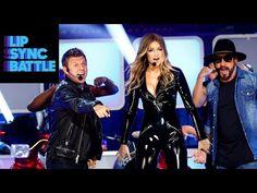 "Watch Gigi Hadid Perform ""Larger Than Life"" with the Backstreet Boys - Gigi Hadid vs. Tyler Posey Lip Sync Battle on 2016.02.25"