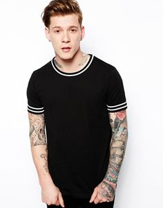 ASOS T-Shirt With Contrast Trim http://picvpic.com/men-t-shirts-t-shirts/asos-t-shirt-with-contrast-trim#black