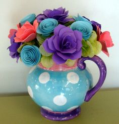 Valentines Day Paper Flower Arrangement by SweetPeasPaperFlower, $23.00