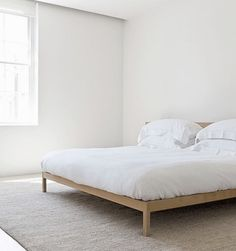 low bed frame, simple