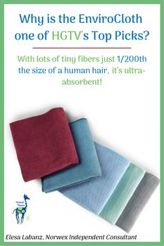 Find out why HGTV is in love with Norwex's EnviroCloth just as much as I am! #Norwex #Cleaning #Microfiber
