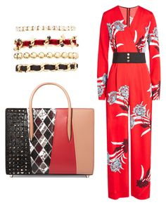 """""""Untitled #186"""" by susannhaabeth on Polyvore featuring Diane Von Furstenberg, Christian Louboutin and Charlotte Russe"""