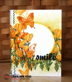 Card by LauraJane using Bloom Sketches, Vignette: Artful Flutters, Trendy Butterflies, and Bold Sentiments: Hello
