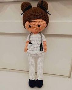 Crochet Vest Pattern, Crochet Patterns Amigurumi, Crochet Motif, Amigurumi Doll, Crochet Dolls, Crochet Baby, Free Crochet, Stuffed Toys Patterns, Doll Patterns