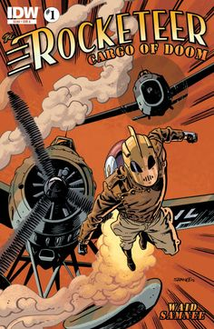 The Rocketeer: Cargo of Doom Written by Mark Waid Art by Chris Samnee, Dave Stevens Colored by Jordie Bellaire Comic Book Artists, Comic Book Characters, Comic Artist, Comic Character, Comic Books Art, Character Design, Nose Art, Art And Illustration, Pulp Fiction