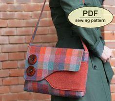 Nouveau : Patron de couture pour faire le sac de messager Brancaster - modèle PDF Téléchargement instantané