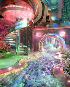 """blake kathryn on Twitter: """"waiting to be hired for kpop mv's:… """" Aesthetic Rooms, Aesthetic Art, Aesthetic Pictures, Retro Interior Design, Deco Design, Fantasy Landscape, Retro Futurism, Dream Rooms, Cool Rooms"""