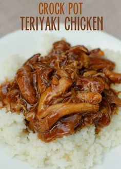The BEST and EASIEST Crock Pot Teriyaki Chicken! Tarah brought this to our MOPS Luau!