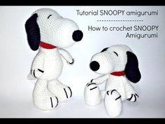 Tutorial Snoopy Amigurumi | How to crochet SNOOPY amigurumi - YouTube