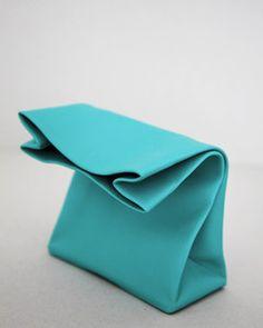 SACO DE PAPEL MINI turquoise -Adaism-