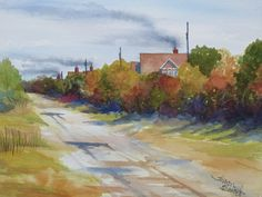 Back Road After the Rain - Outer Banks -watercolor