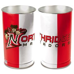 Cal State Northridge Matadors Tier Wastebasket - Red/White
