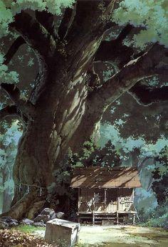 The amazing concept art of My Neighbor Totoro by Studio Ghibli Artbook: The Art of My Neighbor Totoro: A Film by Hayao Miyazaki Miyazaki Film, Ghibli Movies, My Neighbor Totoro, Animation Background, Background Drawing, Environment Design, Fantasy Landscape, Environmental Art, Anime Scenery