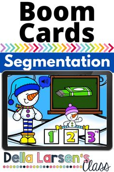 Boom Cards help teach kindergarten students how to segment CVC words. This fun snowman Boom Card will offer a fun activity for you word work and literacy centers this winter. Bring a fun winter literacy activity to your guided reading groups. Literacy Stations, Literacy Skills, Literacy Activities, Literacy Centers, Kindergarten Readiness, Kindergarten Classroom, Interactive Learning, Fun Learning, Help Teaching