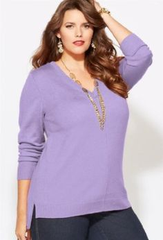 www.iwantobefitnow.tumblr.com/   Avenue Plus Size Seamed Pullover Hi Low Sweater #Plus Size