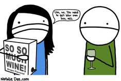 Comic by Natalie Dee: stop perpetrating on my boxwine