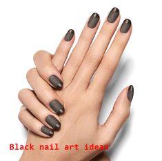 Cinder & Sky Black Magic Woman Nail Polish Strip We gathered the top nail art designs. Matte Black Nails, Black Nail Art, Dark Nails, White Nail Designs, Nail Art Designs, Nail Polish Strips, Gel Polish, Winter Nails, Spring Nails