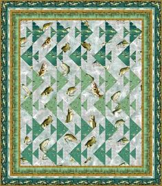 quilt downloadable pattern, with  supply listing rod n reel