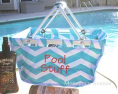 Monogrammed Mini Market Tote  Personalized by TheMonogramAvenue, $22.95