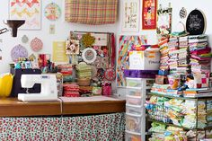 Sewing Area by Jeni Baker