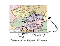 Breakup of Hungary 1945 - Hungary emerged devastated from the First World War. The Austro-Hungarian Empire collapsed in 1918 and Hungary was compelled to sign the Treaty of Trianon by which she lost two-thirds of her historic territory, one-third of her Magyar population and two thirds of her total population. It was the greatest blow suffered by Hungary since her defeat by the Turks in 1526. Historical Maps, Historical Clothing, Prague Czech Republic, Austro Hungarian, Family Genealogy, Old Maps, World History, Romania, Budapest