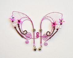 Elf oreille poignets rose fil enroulé Elven oreille poignets fée oreille menottes roses et mauve ou n'importe quel ordre personnalisé de pellicule couleur oreille