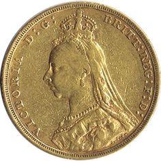 Moneda de oro Libra esterlina. Victoria. Gran Bretaña 1893