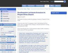 Southeastern achieves Investors in People Silver