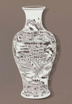 Hand-Cut Rice Paper Artwork by Bovey Lee -- with Mesmerizing Details! Kirigami, Chinese Paper Cutting, Paper Cut Design, Paper Lace, Cut Paper, Book Sculpture, Art Sculptures, Paper Artwork, Art Original