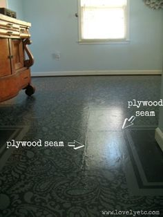 Painted Plywood Subfloor - This is what happens when you don't properly attend to sealing the Plywood Seams