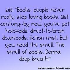 "The Doctor describes books <3 V""""V"