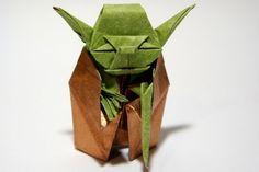 Origami Jedi Yoda passo a passo no site.