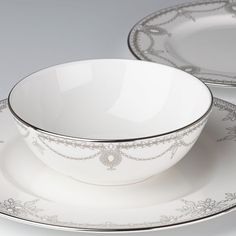 Marchesa Empire Pearl 3-pc Place Setting By Lenox