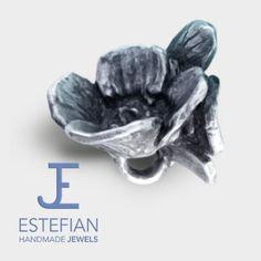 Bead Coppia di Papaveri, by Estefian Jewels, adatto per gioielli componibili (TB, P, etc). Argento lavorato a mano, pezzi unici.