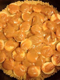Heerlijke banoffee pie - Lekker en Simpel met caramelsaus van een blikje condensmelk