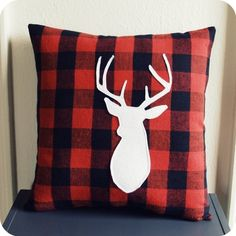 I bought this lumberjack pillow for my boy's room!
