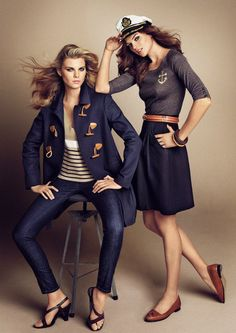 I will always think nautical/sailor inspired fashion is in style. I especially love the skirt on the right!